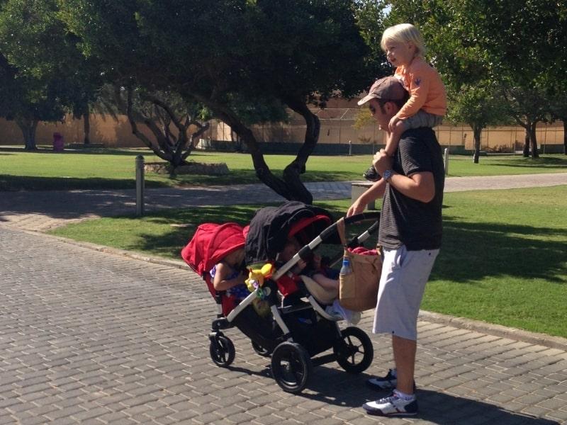 Nursing cover as sun shield over baby capsule or stroller