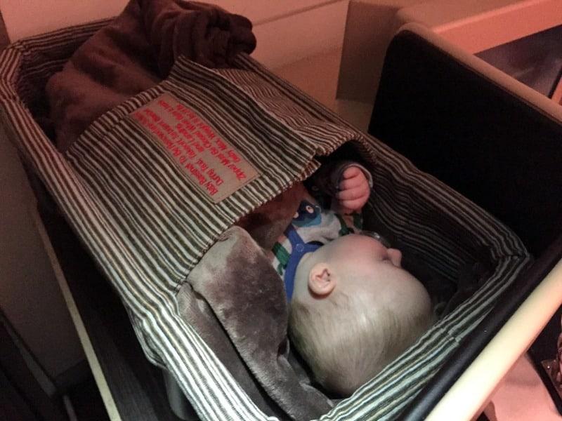 plane baby bassinet