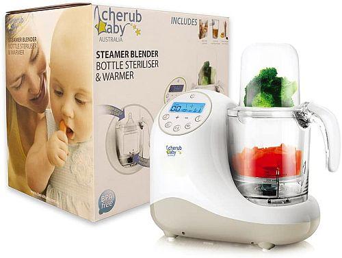 Cherub Baby Steamer Blender Baby Food Maker and Processor, Bottle Steriliser & Bottle Warmer