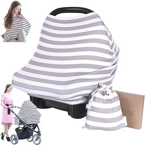 All-In-One Carseat Canopy Infinity Nursing Cover