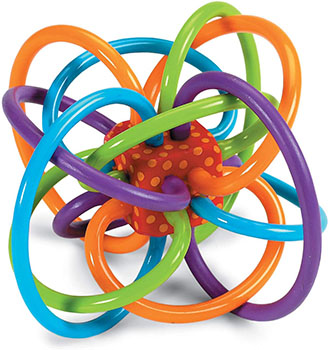 Manhattan Toy Winkel Rattle and Sensory Teether Baby Toy