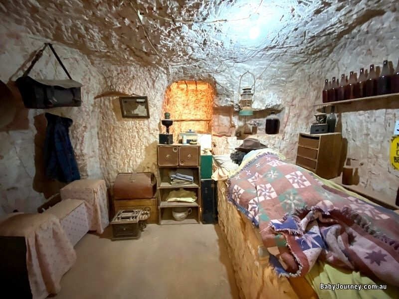 Old underground home in Old Timers Mine and Museum Coober Pedy