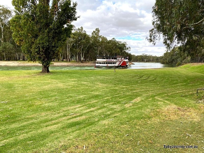 Paddle steamers along Murray River