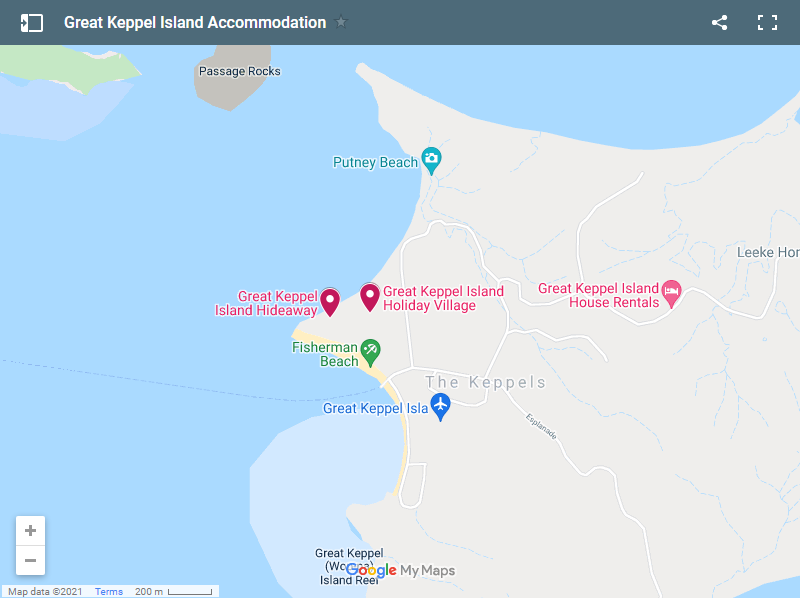 Great Keppel Island Accommodation map